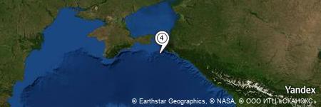 Yandex Map of 20.432 miles of Ostrov Utrish