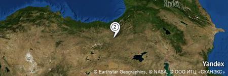 Yandex Map of 1.687 miles of Baş Çayı