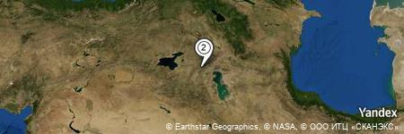 Yandex Map of 1.515 miles of Gol Ḩamū