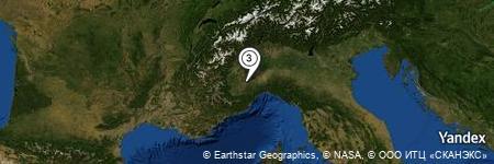 Yandex Map of 0.117 miles of Pastura