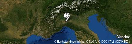 Yandex Map of 0.185 miles of Cà Caffarone