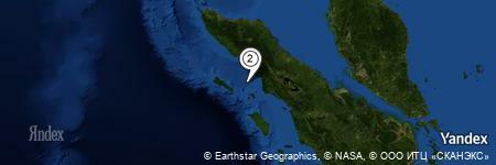 Yandex Map of 25.187 miles of Pulau Tambarat