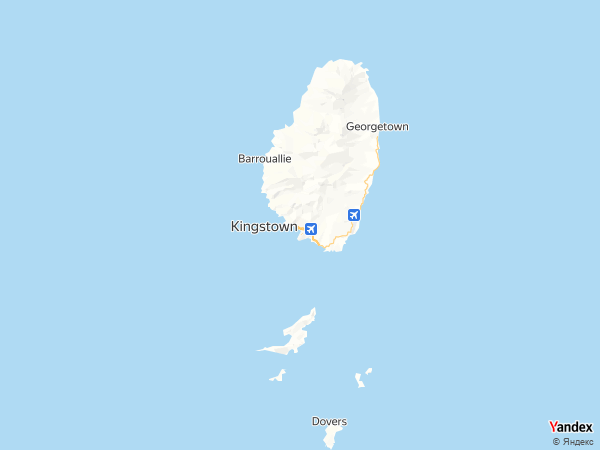 Map Kingstown، Saint Vincent and the Grenadines