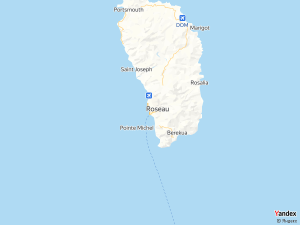 Map Santo Domingo، Dominica