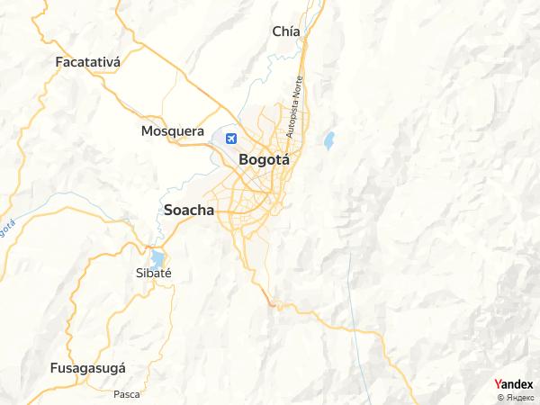 Map Bogota، Colombia