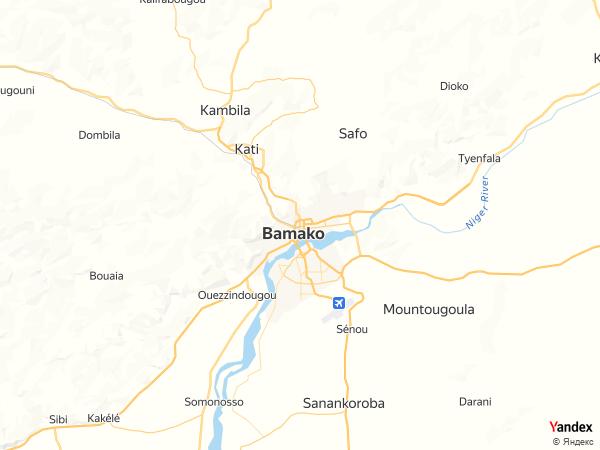 Map Bamako، Mali