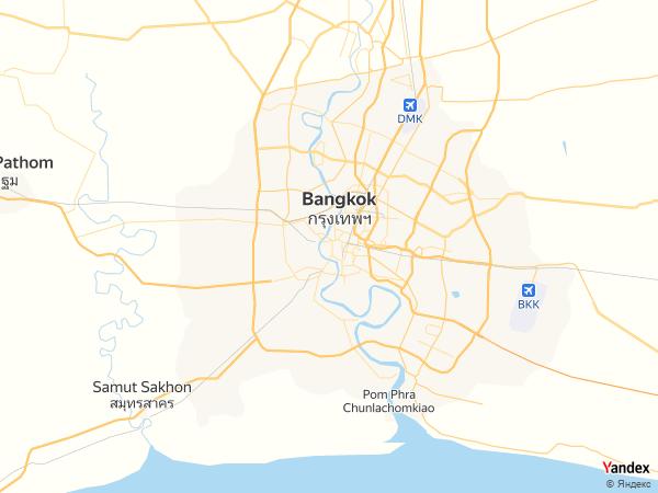 Map Bangkok، Thailand