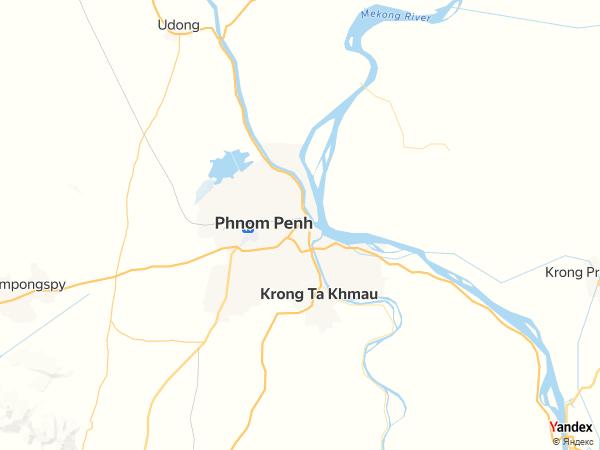 Map Phnom Penh، Cambodia