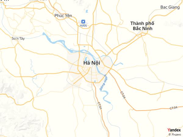 Map Hanoi، Vietnam