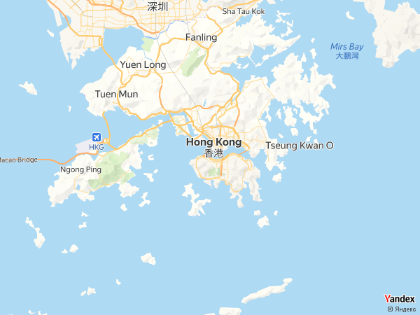 Map Hong Kong، Hong Kong