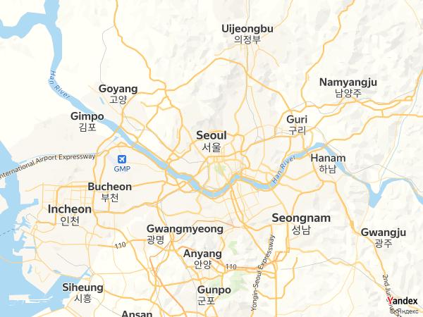 Map Seoul، South Korea