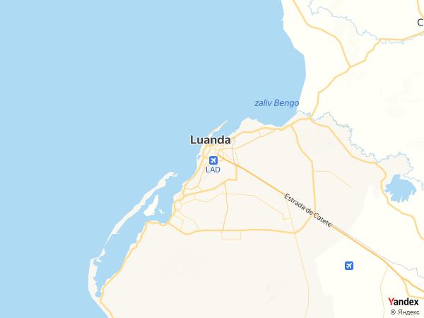 Map Luanda، Angola