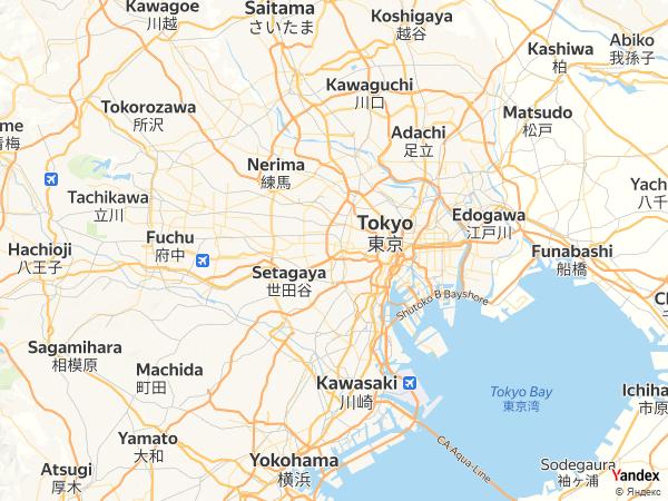 Map Tokyo، Japan