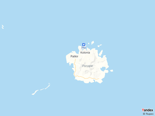 Map Palikir، Micronesia