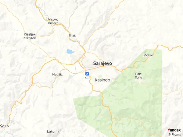 Map Sarajevo، Bosnia and Herzegovina