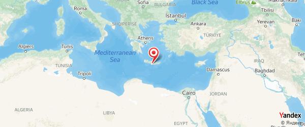 Insula Creta pe harta