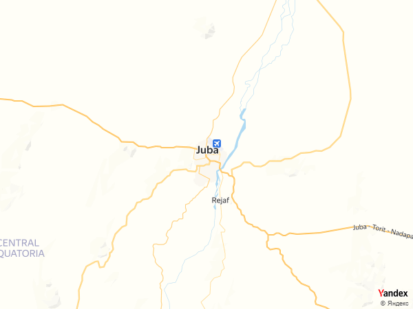 Map Juba، South Sudan