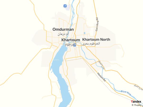 Map Khartoum، Sudan
