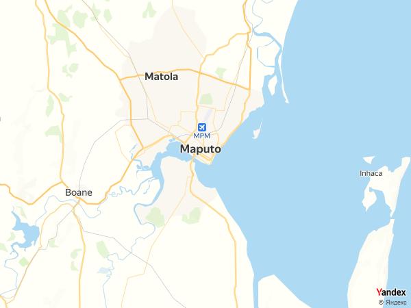 Map Maputo، Mozambique