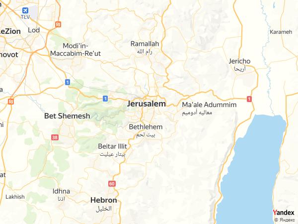 Map Alquds، Palestine