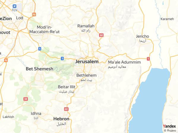 Map Jerusalem، Israel