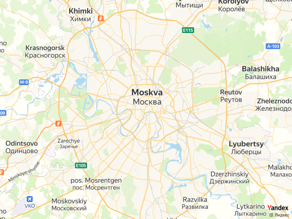 Map Moscow، Russia