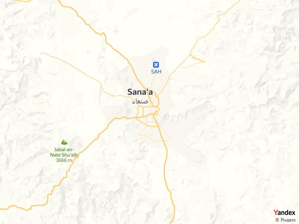 Map Sanaa، Yemen