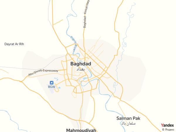 Map Baghdad، Iraq