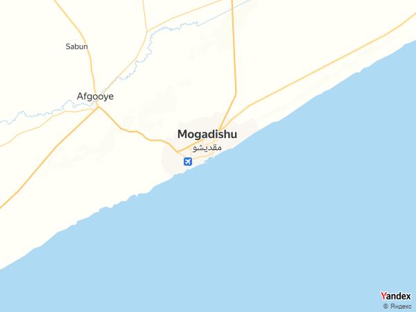 Map Mogadishu، Somalia
