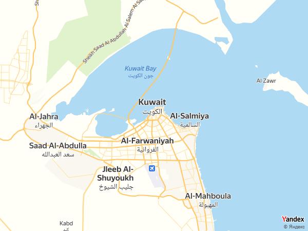 Map Kuwait City، Kuwait