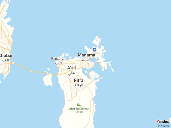 Map Manama، Bahrain
