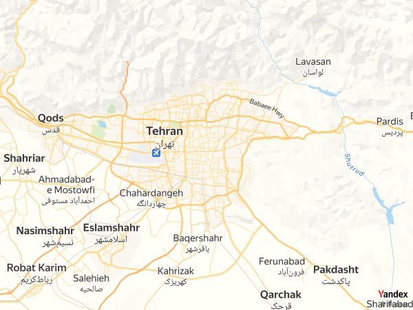 Map Tehran، Iran