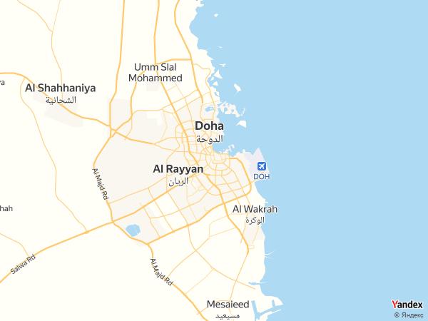 Map Doha، Qatar