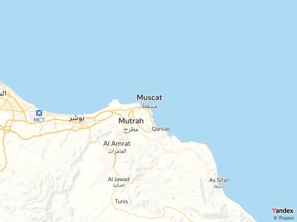 Map Muscat، Oman