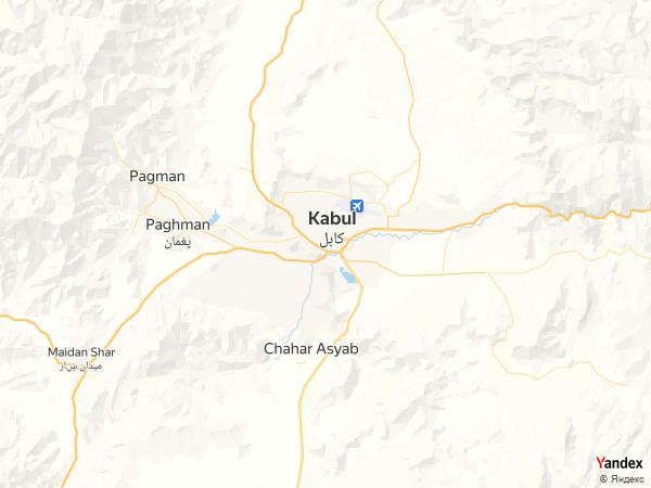 Map Kabul، Afghanistan