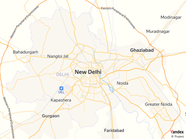 Map New Delhi، India