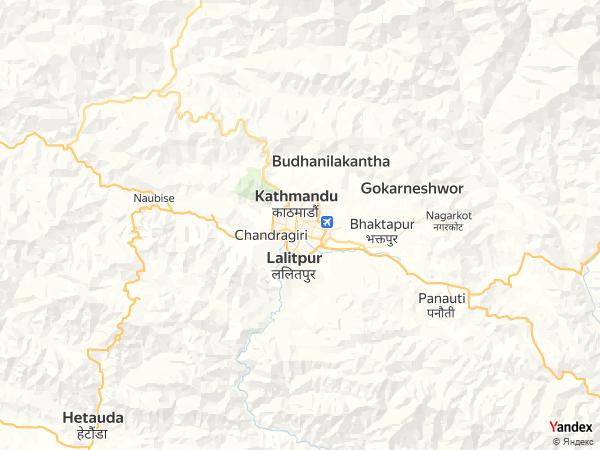 Map Kathmandu، Nepal