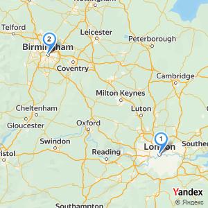 Distance London Birmingham