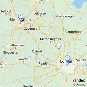 Distance Birmingham London