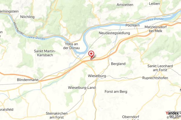 A01 West Autobahn: Bei Anschlussstelle Ybbs-Wieselburg, Blickrichtung St. Pölten – Km 99,10 webcam Live
