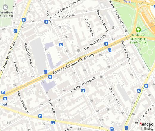 Avenue Édouard Vaillant, 55, Boulogne-Billancourt, nearest ...