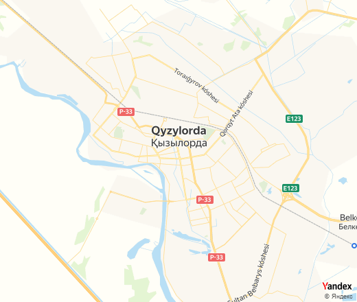 Yandex.Maps: Online map of Kyzylorda with street names and ...