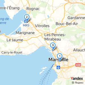 Where are the bus stops at Marseille