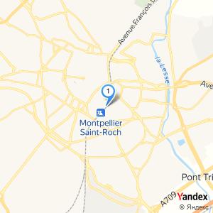 Adresse gare SNCF à Montpellier