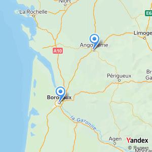 Voyage en bus Bordeaux Angouleme