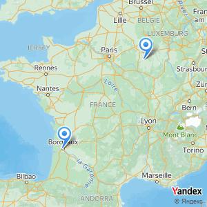 Voyage en bus Bordeaux Vitry le François