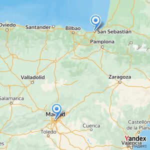Viaje en autobús Madrid San Sebastián