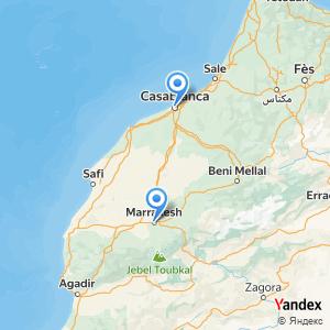 Voyage en bus Marrakech Casablanca