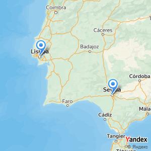 Voyage en bus Lisboa Sevilha