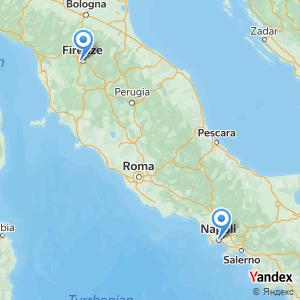 Viaggio in pullman Firenze Napoli